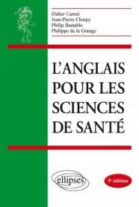 couverture de l'ouvrage Anglais pour les sciences de la santé, 2019